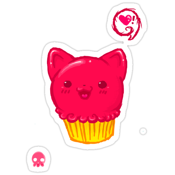 Cupcake Kitty by AngryMarshmallo
