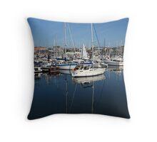 Bangor Marina Throw Pillow