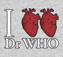 I Heart Heart Dr Who One Piece - Long Sleeve