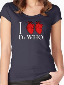 I Heart Heart Dr Who Women's Fitted Scoop T-Shirt