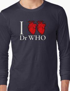 I Heart Heart Dr Who Long Sleeve T-Shirt