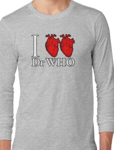 I Heart Heart Dr Who Long Sleeve T-Shirt