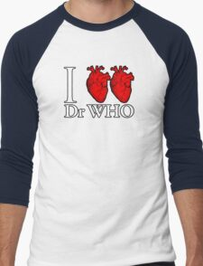 I Heart Heart Dr Who Men's Baseball ¾ T-Shirt