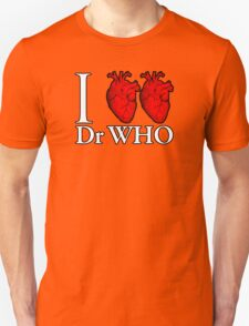 I Heart Heart Dr Who Unisex T-Shirt