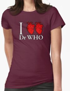 I Heart Heart Dr Who Womens Fitted T-Shirt