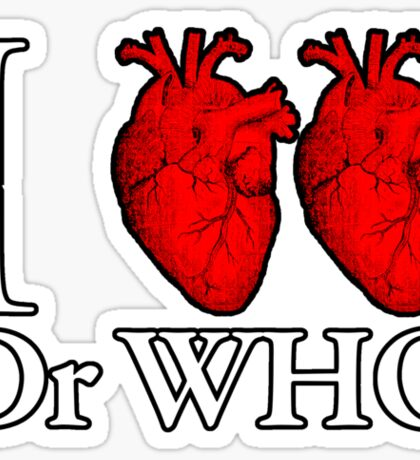 I Heart Heart Dr Who Sticker