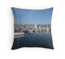 Bangor Marina, N. Ireland. Throw Pillow