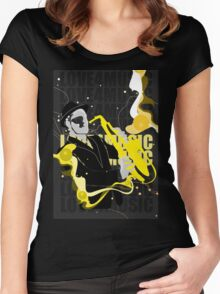 Love For Music Women's Fitted Scoop T-Shirt