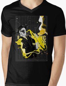 Love For Music Mens V-Neck T-Shirt