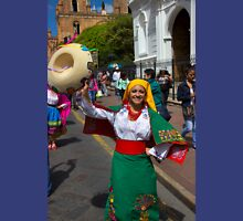 Join The Parade In Cuenca Ecuador Womens Fitted T-Shirt