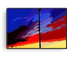 Monster Sunset Canvas Print