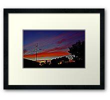 Sunset In Suburbia Framed Print