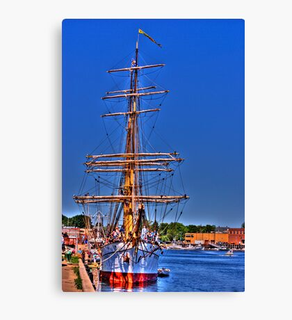 Barque Picton Castle Canvas Print