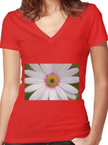 African Daisy  Women's Fitted V-Neck T-Shirt