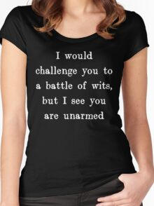 Battle of Wits Women's Fitted Scoop T-Shirt