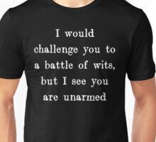 Battle of Wits Unisex T-Shirt