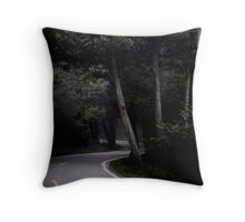 Dark Road Throw Pillow