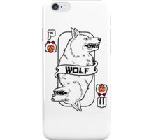 Moro the wolf card iPhone Case/Skin