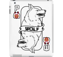 Moro the wolf card iPad Case/Skin