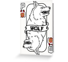 Moro the wolf card Greeting Card