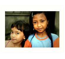 Two Girls in Ubud, Bali Art Print