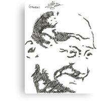 Gandhi - Sketch Canvas Print