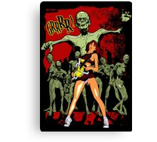 Zombie Killer Cheerleader Canvas Print