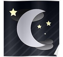 Midnight Half Moon Poster