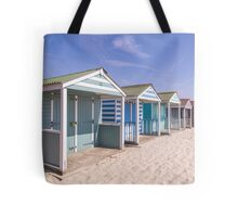 Pastel stripey beach hut love *1* Tote Bag