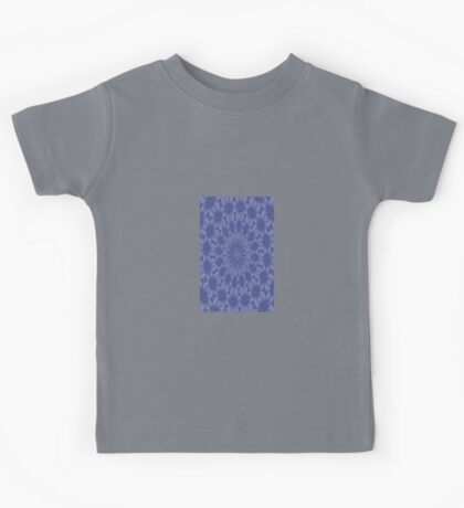 Blue and Mauve Abstract Kaleidoscope Kids Tee