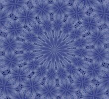 Blue and Mauve Abstract Kaleidoscope by taiche