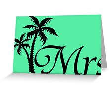 His and Hers Mr and Mrs Wedding Honeymoon Matching T-shirts Greeting Card