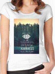 She Opens Her Mouth with Wisdom -Photo Women's Fitted Scoop T-Shirt