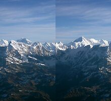 Cho Oyu and Gyachungkhang Beyond 3D Stereo by Richard Heath