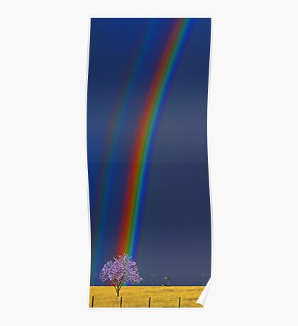 Rural Rainbow  Poster