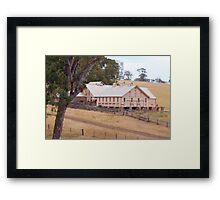 Warrock Shearing Shed Framed Print
