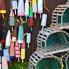 Lobster cage and buoys by snittel