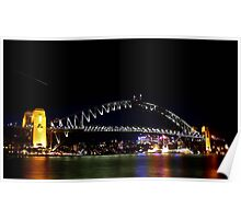 Sydney Harbour night reflections - Sydney Harbour Bridge Poster