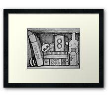 The Non-existent Box - an imaginary vanitas Framed Print