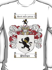 Phillips Family Crest / Phillips Coat of Arms T-Shirt T-Shirt