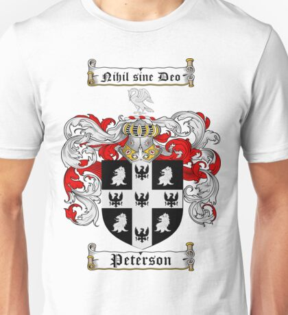 Peterson Family Crest / Peterson Coat of Arms T-Shirt Unisex T-Shirt
