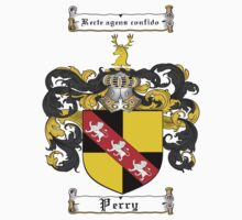 Perry Family Crest / Perry Coat of Arms T-Shirt by coatofarms