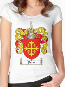 Perez Family Crest / Perez Coat of Arms T-Shirt Women's Fitted Scoop T-Shirt