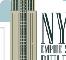 nyc, the empire state building Sticker