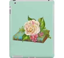 Flowers on the book iPad Case/Skin