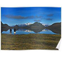 Lake Álftavatn reflection Poster