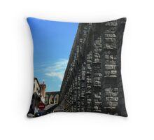 The Water Bridge in Segovia,Spain Throw Pillow