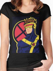 X-Men vintage Cyclops 1990s  Retro Women's Fitted Scoop T-Shirt
