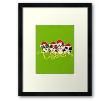 4 Cute Puppies Seasons Greetings Framed Print