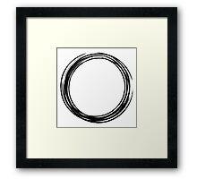 Enso circle Framed Print